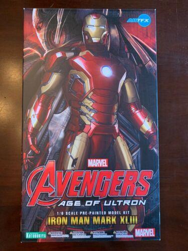 Kotobukiya ArtFX Marvel Avengers Iron Man Mark XLIII Age of Ultron Light Up