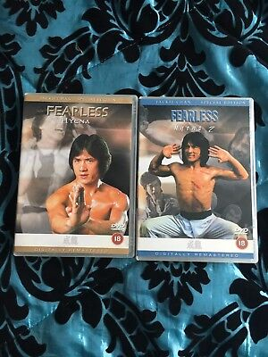 FEARLESS HYENA 1+2 JACKIE CHAN MARTIAL ARTS KUNG FU HK CHINESE OOP DELETED MINT