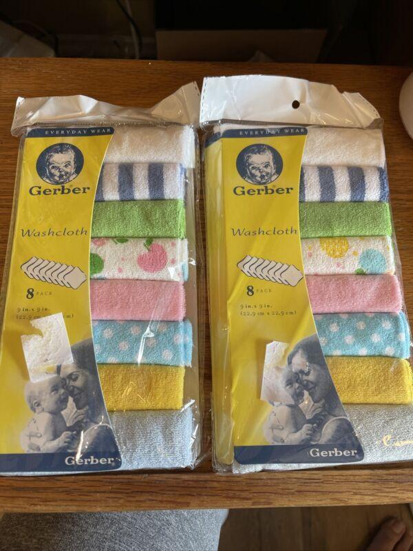 Gerber baby washcloth 16 pack