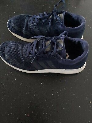 Adidas Los Angeles Blue Comfort Trainers Size 10 UK (EU  44.5) Good Condition .