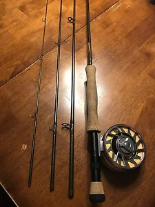 Complete salmon fly rod setup 9ft 8wt St. Croix