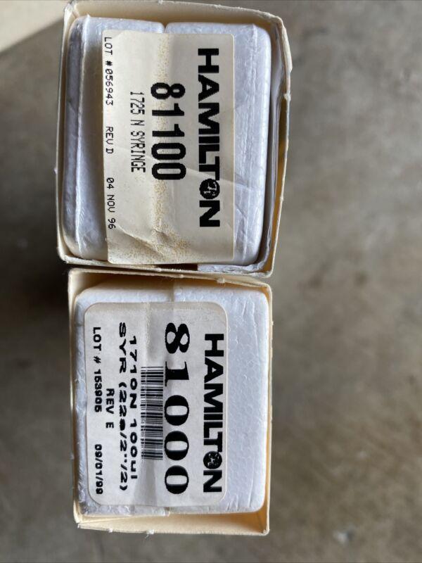 Two Hamilton Syringe Model 1725 N  81100 And 1710N  81000, 250µl