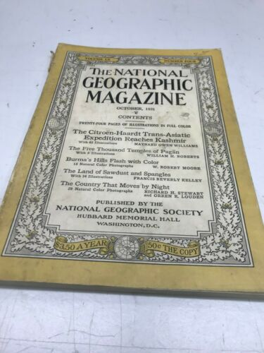 VINTAGE NATIONAL GEOGRAPHIC 1931 RINGLING BROS.ARTICLE LAND OF SAWDUST &SPANGLES