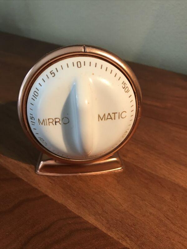 Vintage 1950s Robert Shaw Lux Mirro Copper Kitchen Timer 60 Minute Mid-Century