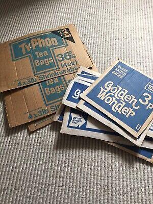 Vintage Advertising Cardboard Box Signs