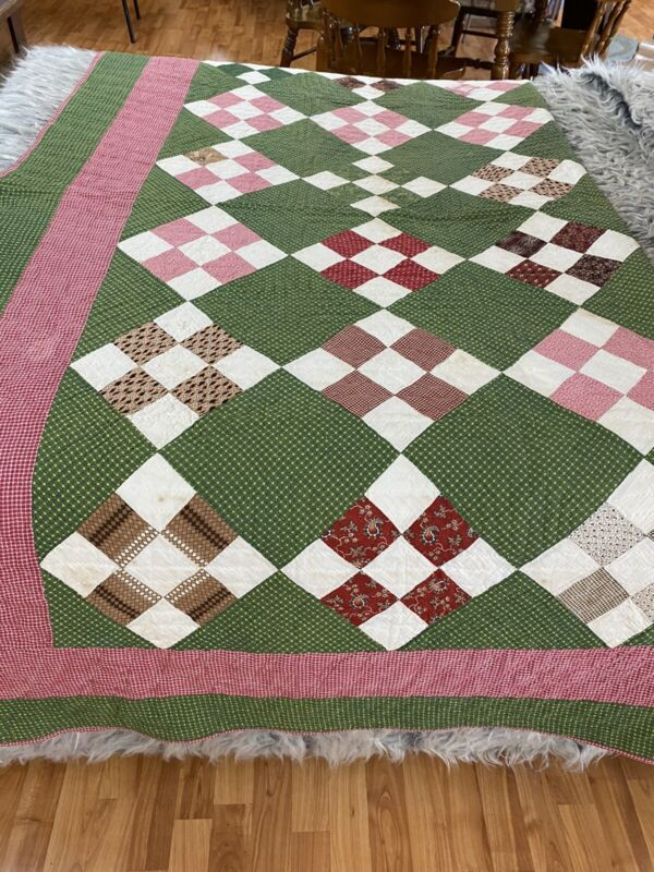 Antique Early Quilt 84 X 82