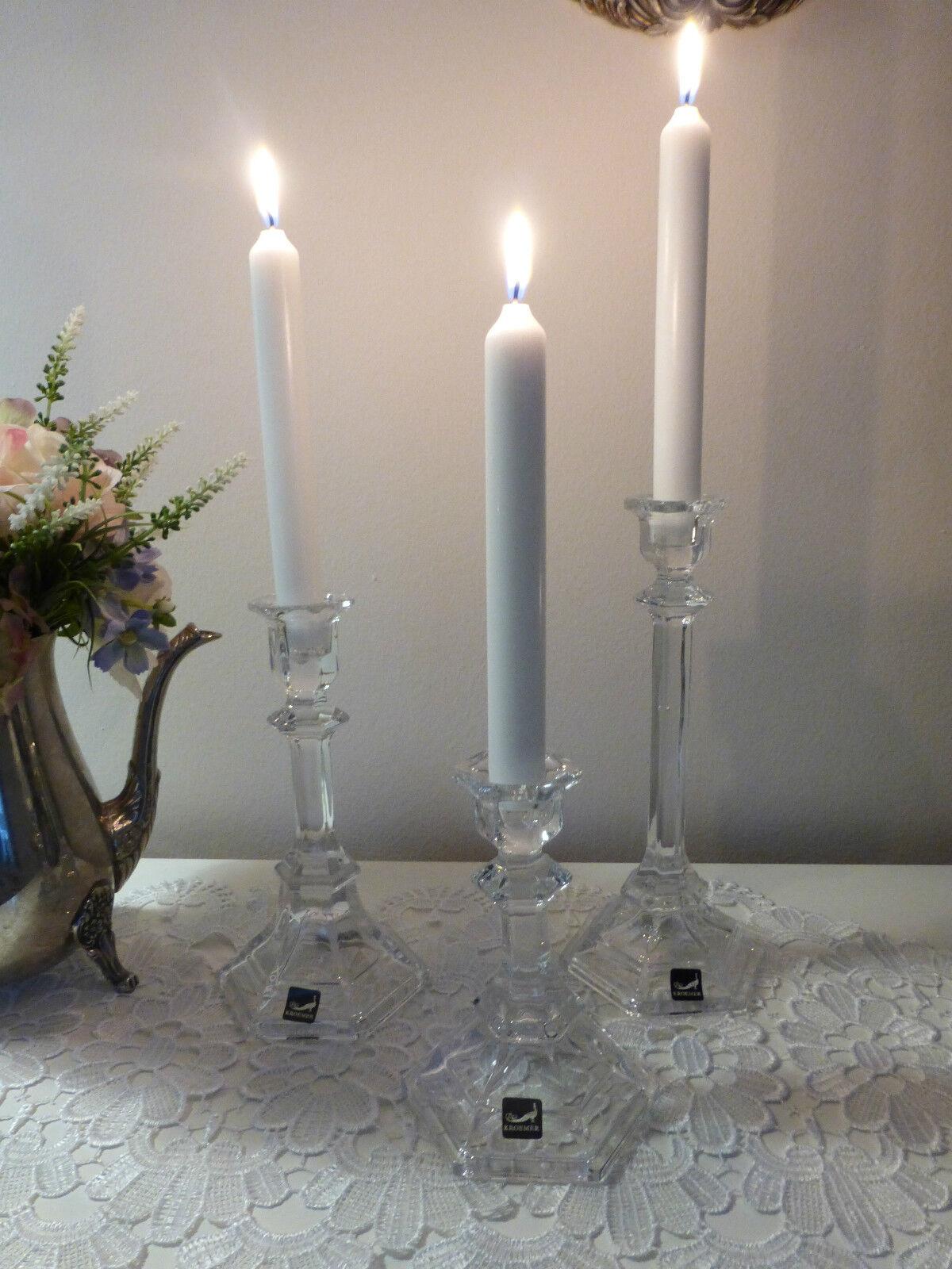 Kerzenständer Glas kerzenhalter glas glasleuchter kerzenständer klar glas 14 24cm krömer eur 6 95