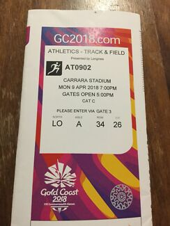 Commonwealth Games tickets - Athletics finals