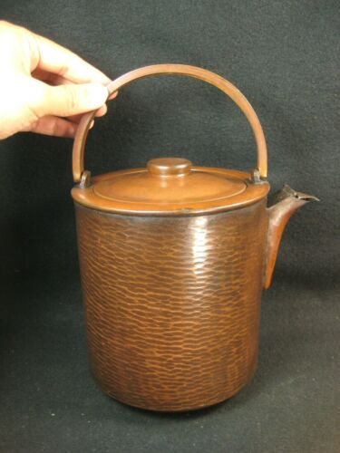 ANTIQUE JAPANESE TAISHO ERA (c.1920) COPPER TEA POT KETTLE
