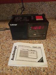 Audiologic RWC-25 AM/FM Cassette Radio Alarm Clock w/ Soothing Sound Sleeper