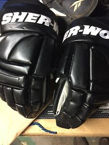 14 inch leather hockey gloves