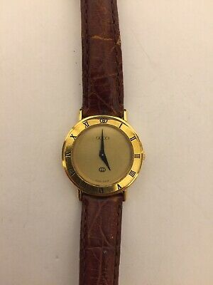 Womens Vintage Gucci 3000L Watch  New Battery Ready To Wear!