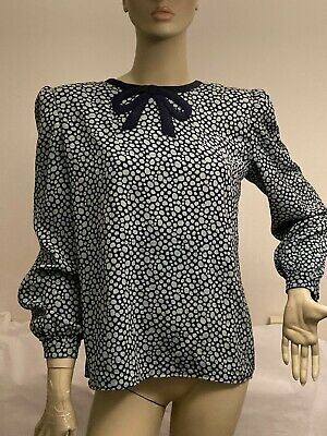 VINTAGE VALENTINO BOUTIQUE BLOUSE SHIRT TOP SIZE 12/ 8