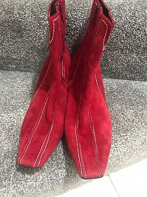 Hogl Ladies Red Boots Size 6.5