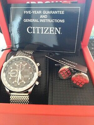 Citizen CA0080-54E Stainless Steel Chronograph Mens Watch - Silver/Black