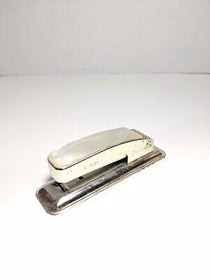 Vintage Swingline 99 Stapler - Industrial Metal Stapler. Imitation Pearl Top