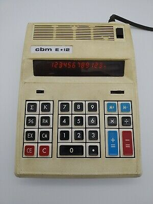 Vintage Commodore CBM E*12 Desktop Electronic Calculator 1970's E12 E-12