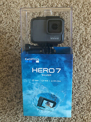 GoPro HERO7 Silver 10 MP Waterproof 4K Camera Camcorder Go Pro HERO 7