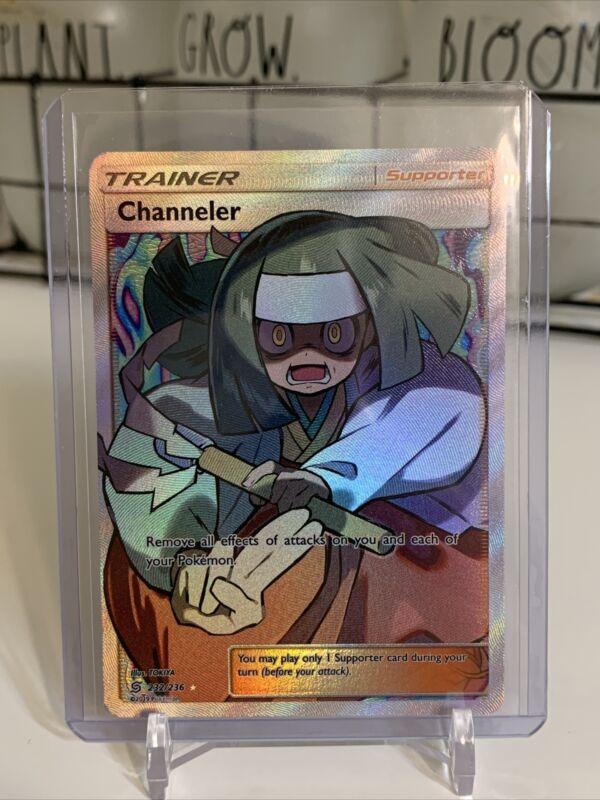 Pokemon Tcg Unified Minds Channeler 232/236 Full Art Ultra Rare Holo Card🔥📈🔥
