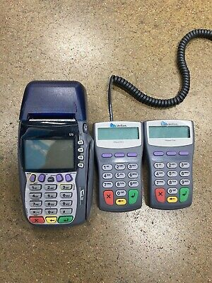 Verifone Vx570 Omni 5700 Dial 12 Mb Credit Card Terminal 2x Pinpad 1000