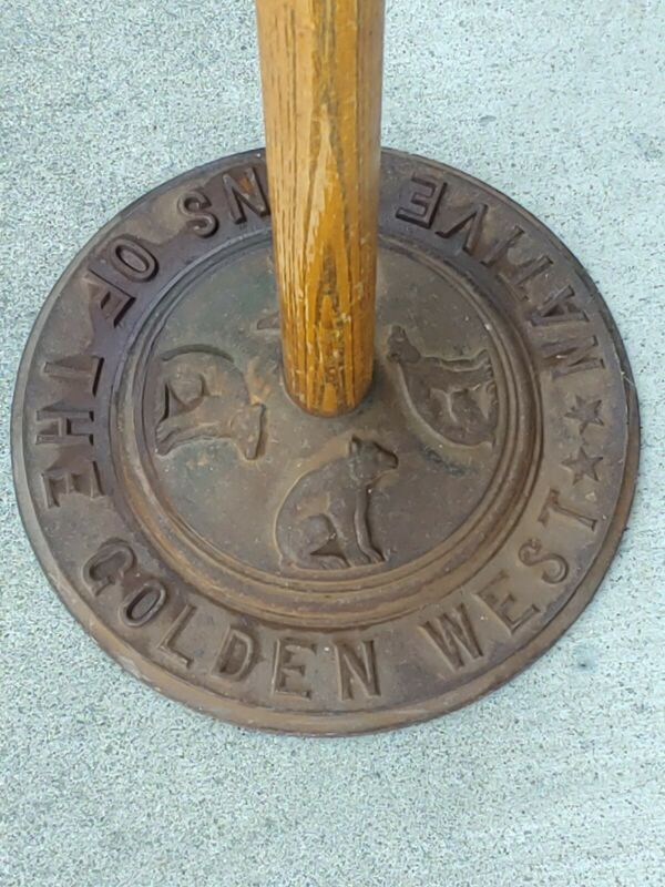 RARE NSGW  Native Sons of the Golden West 8ft. flag pole Vintage