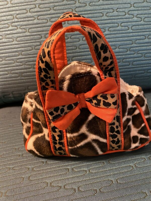 Sassy Pet Saks Small By Douglas Animal print Bag Brown Orange Tan Ages 24Months