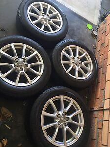 Audi Q5 18inch factory OEM wheel rim + tyres 58889 Henley Beach Charles Sturt Area Preview