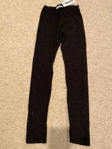 Molo Niki Leggings Black Sparkly Size 12 152