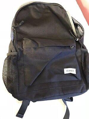 Water Resistant Bookbag Backpack College Travel Student Slim Rucksack USB
