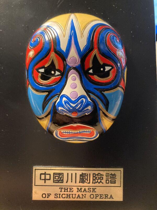 "Ceramic Mask of Chinese Sichuan Opera Chuan Ju  5.5""  tabletop"