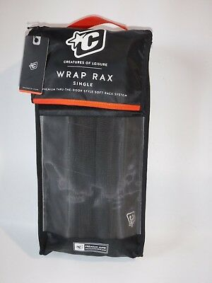 #8500 NEW CREATURES WRAP RAX SOFT SURFBOARD CAR RACK 3 SHORT OR 2 L0NGBRDS