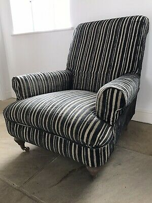 Armchair -  Grey And Cream Stripe
