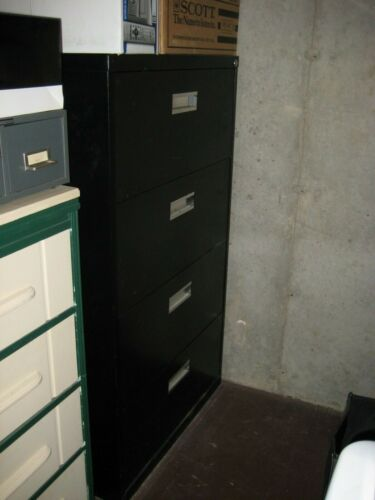 4-DRAWER LEGAL SIZE LOCKABLE LATERAL FILE CABINET BLACK LOCAL PICK UP
