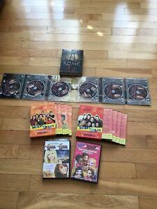 DVD RAMDAM, HANNAH MONTANA, ROME ET BRATZ  2 COFFRETS DE 4 DVDS