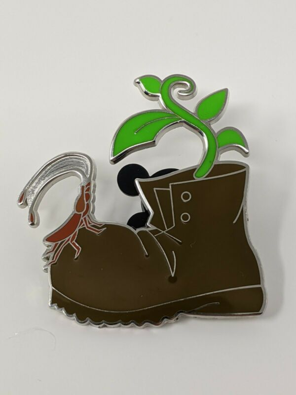 Wall-E 10th Anniversary Boot With A Plant In It LE500 Disney Pin Trading