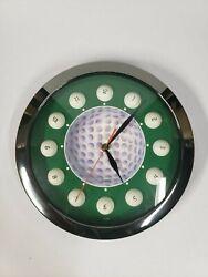 Quartz 11 Golf Ball Wall Clock, Battery Operated