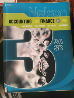 YEAR 12 ACCOUNTING AND FINANCE Textbook