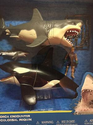 Great White Shark   Killer Whale Playset Animal Planet