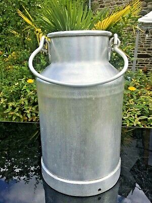 MILK CHURN RARE SIZE VINTAGE FRENCH ALUMINIUM WEDDINGS PLANTER
