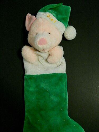 "Vintage Disney Piglet Plush Christmas Stocking 23"""