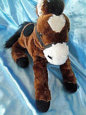 Stuffed Plush HugFun Bay Pony Horse 15