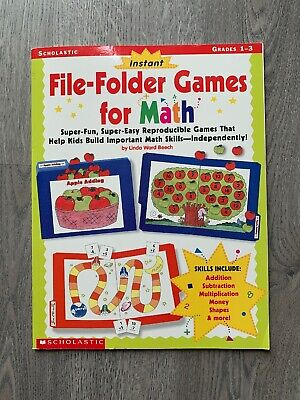 Instant File Folder Games For Math Grades 1-3 Scholastic Linda Ward Beech ()