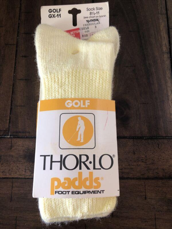 NEW Thor-Lo Thorlo 85% Acrylic Padds Golf Socks Sport VTG NOS Mens Women's