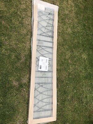 """Abbey Railing1830mm (6') x 395mm  (15.5"""") Gap Zinc & Powder ABZP06"""