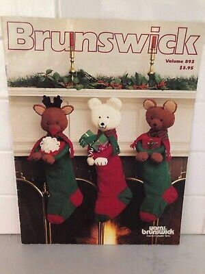 CHRISTMAS Brunswick 893 Knit Crochet Stockings & Tree Skirt Patterns 11pg Bears  ()