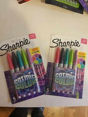 Sharpie Permanent Markersfine Point2 Packs X 5 Ct 10 Markers