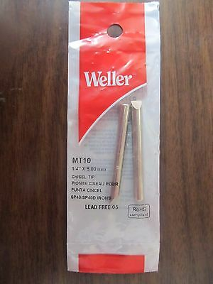 "Weller Chisel Shaped Replacement Tip Package of 2 1/4"" Diameter  #MT10   NEW"