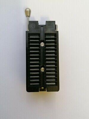Aries Dip Test Zif Ic Dip Socket 28pin 2.54mm Black