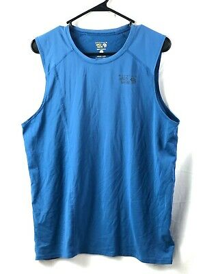 Mountain Hardwear Athletic Tank Top Mens Large Blue Vented Polyester Stretch Euc Mountain Hardwear Mens Tank Top
