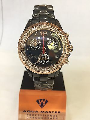 1 25T Techno By Jpm Ladies Diamond Black Ceramic Watch Joe Rodeo Aqua Master115s